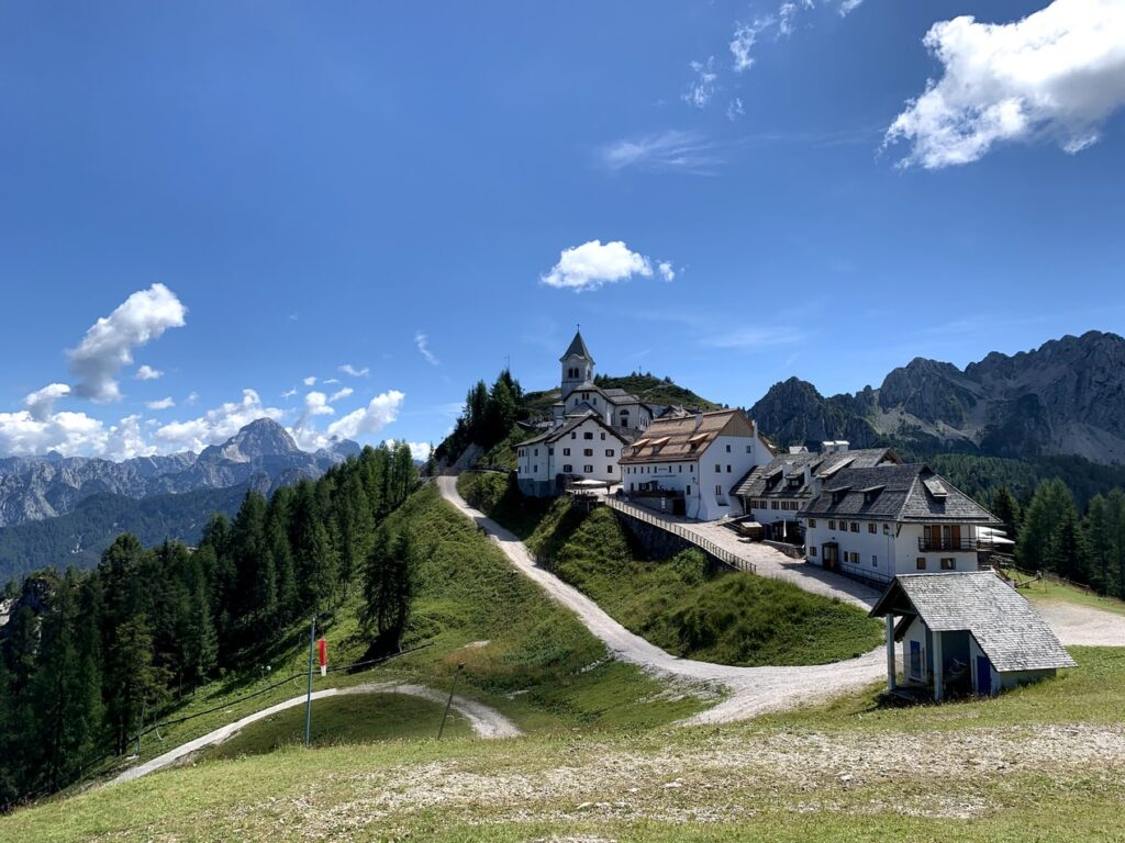 Monte Lussari from Kranjska Gora