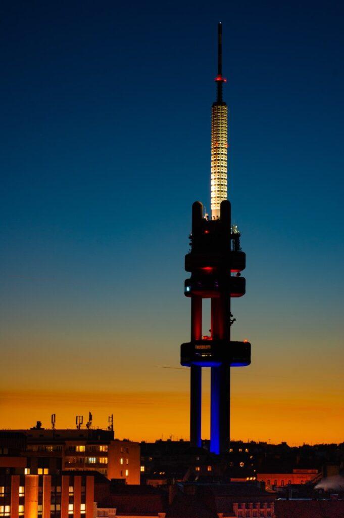 Zizkov Tower at Night