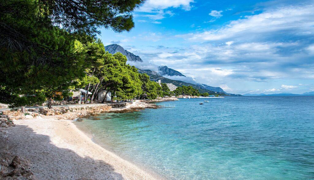 Beach in Croatia, Makarska
