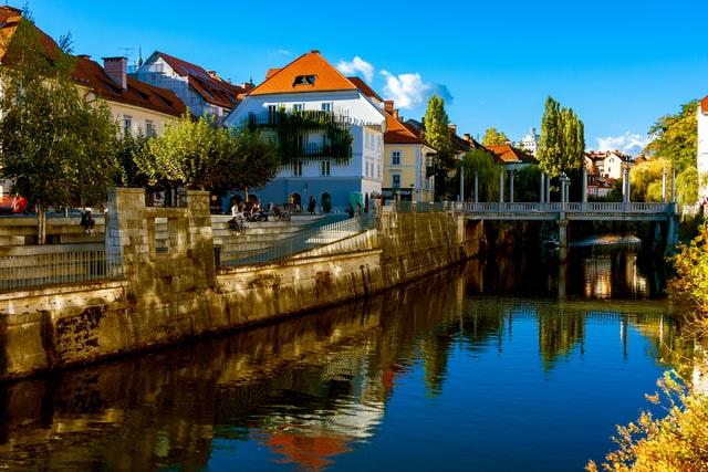 Ljubljana Old Town River