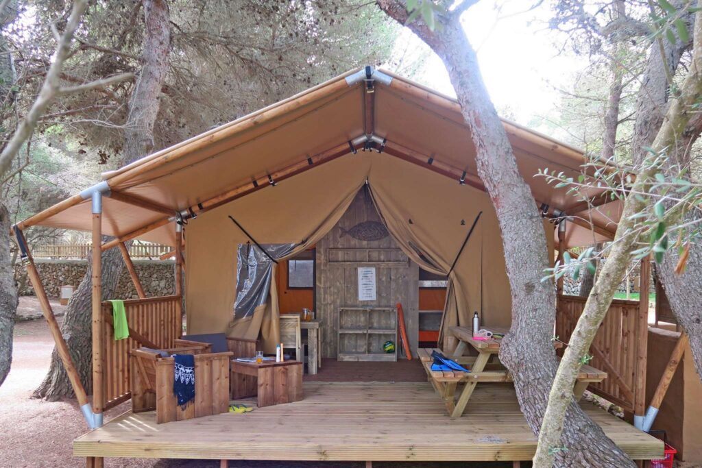 Furnished Tent for Camping in Menorca