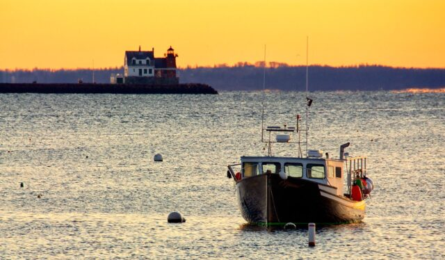 Rockland Harbor and Lighthouse