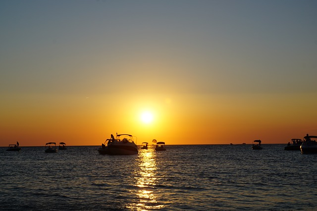 Ibiza Sunset from Rental Boat